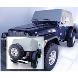 Cab Cover, Gray, 92-06 Jeep...