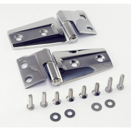 Hood Hinge Kit, Stainless-...