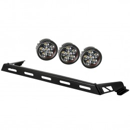 Hood Light Bar Kit, 3 Round...