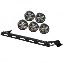 Hood Light Bar Kit, 5 Round...